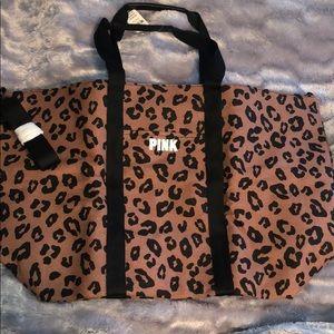 Cheetah print Victorias Secret/ Pink overnight bag